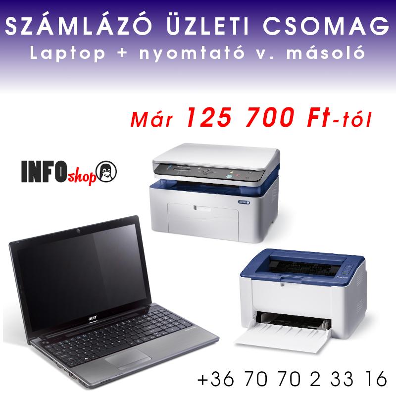 Laptop nyomtatóval